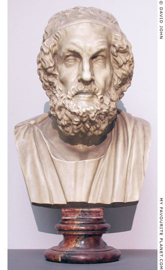 Bust of Homer in the Pergamon Museum, Berlin at My Favourite Planet