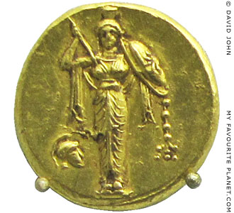 The Palladion on a gold stater, Bode Museum, Berlin at My Favourite Planet