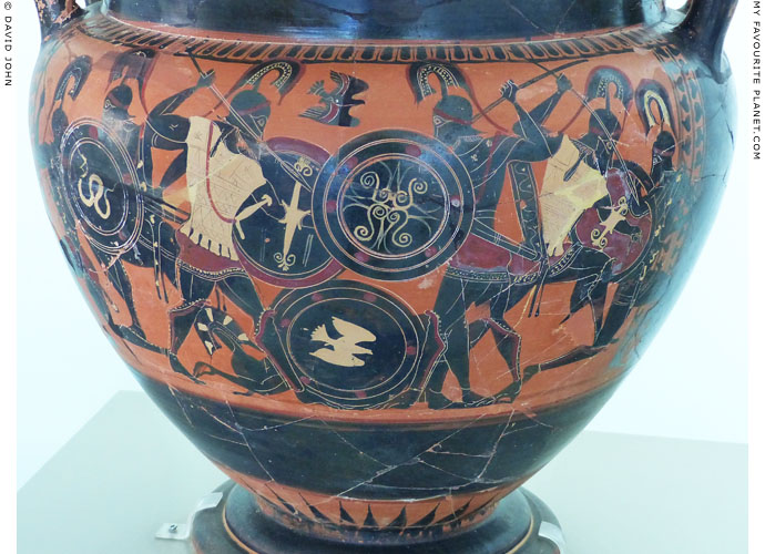 Homeric duel on a black-figure column krater in Kavala at My Favourite Planet