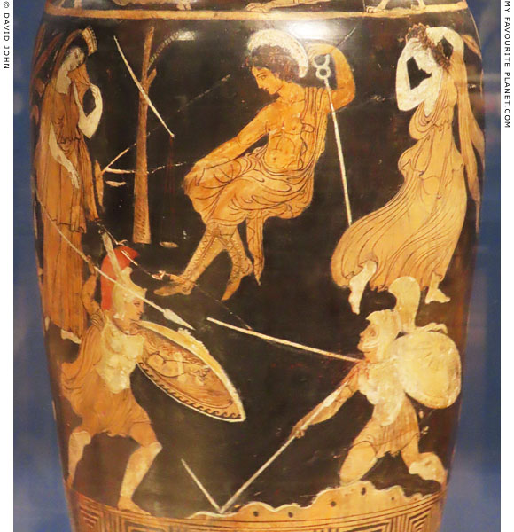 Achilles fighting Memnon on a Campanian amphora at My Favourite Planet