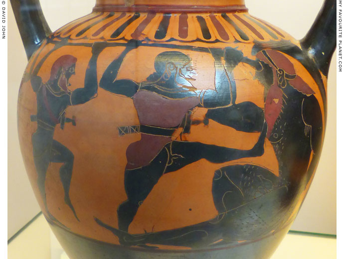 Odysseus and his companions blinding Polyphemos, British Museum at My Favourite Planet