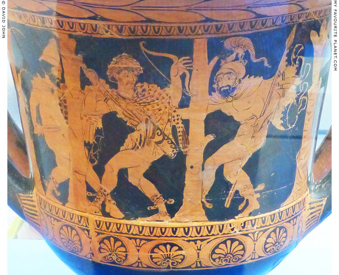Odysseus and Diomedes capture the Trojan spy Dolon at My Favourite Planet
