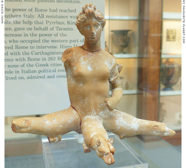 Terracotta figure of Skylla, British Museum, London at My Favourite Planet