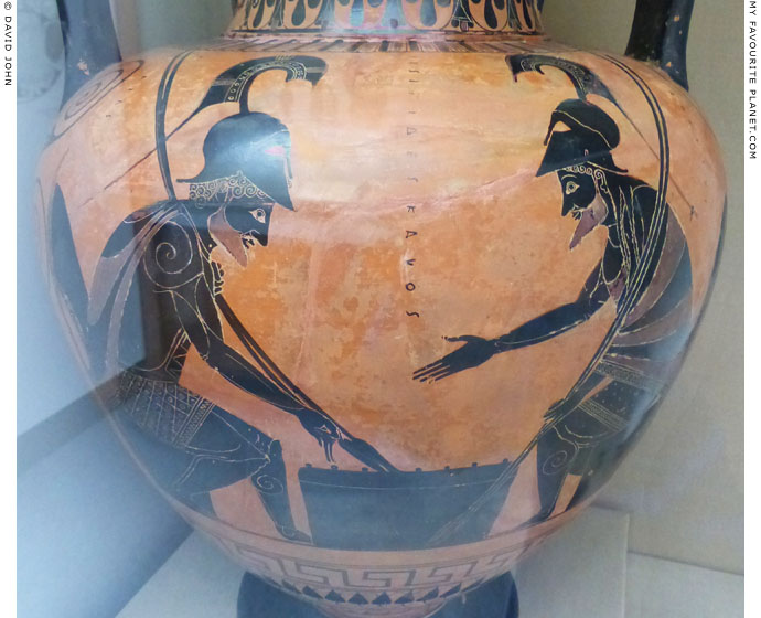 Achilles and Ajax playing a board game, British Museum at My Favourite Planet