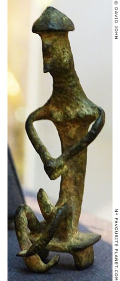 Bronze figurine of Ajax committing suicide, British Museum at My Favourite Planet