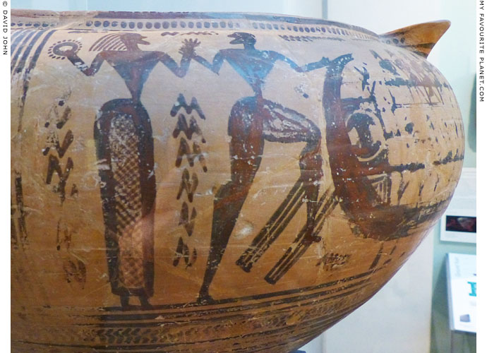 Detail of a Geometric krater in the British Museum My Favourite Planet