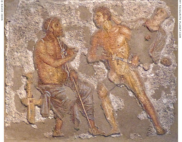 Mosaic of Achilles affronting Agamemnon from Pompeii at My Favourite Planet