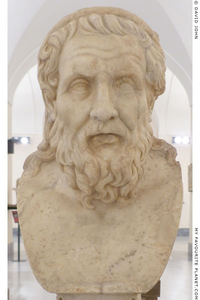 Bust of Homer of the Apollonios of Tyana type at My Favourite Planet