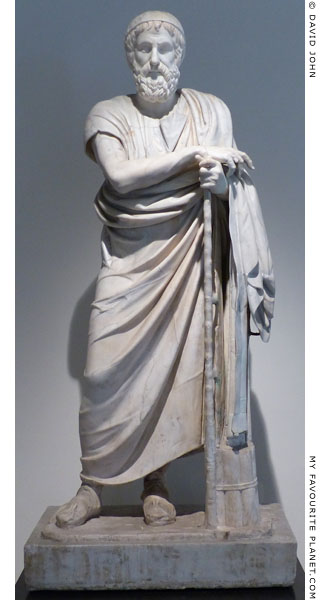 Statue of Homer or a philosopher from Herculaneum at My Favourite Planet