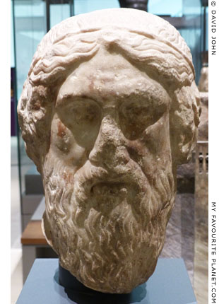 A marble head of Homer, Ashmolean Museum, Oxford at My Favourite Planet