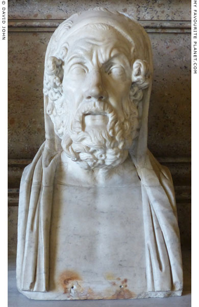 Herm bust of Homer, Capitoline Museums, Rome at My Favourite Planet