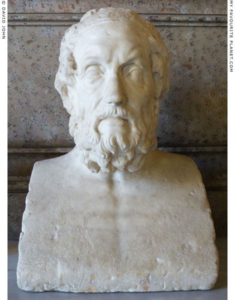 Marble herm of Homer, Capitoline Museums, Rome at My Favourite Planet