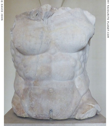A marble torso from a colossal statue of Polyphemos at My Favourite Planet