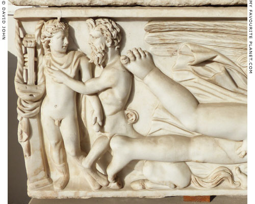 Achilles and Cheiron on the left side of the sarcophagus at My Favourite Planet