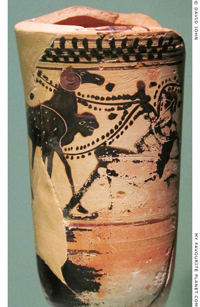Odysseus and Polyphemos on a lekythos from Athens at My Favourite Planet