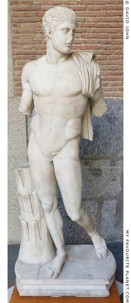 A marble statue thought to be a copy of a statue of Diomedes by Kresilas at My Favourite Planet
