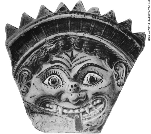 A terracotta Gorgoneion antefix from Thasos at My Favourite Planet