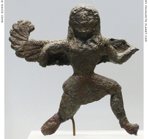 Small bronze figure of Medusa from the Sanctuary of Olympia, Greece at My Favourite Planet