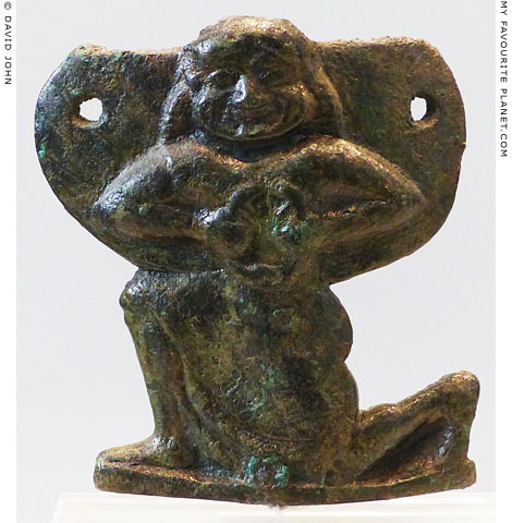 Small bronze figure of Medusa from Phoiniki, Laconia at My Favourite Planet