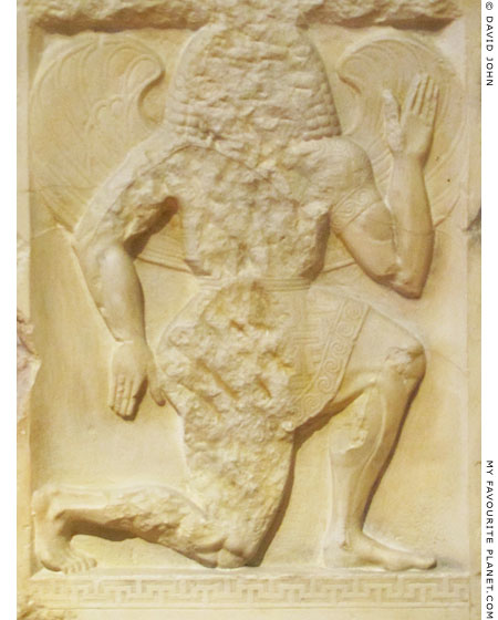 A winged Gorgon on a marble grave stele from Kerameikos, Athens at My Favourite Planet
