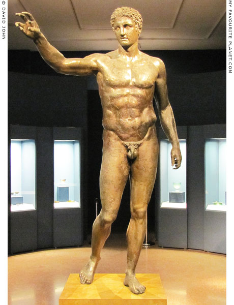 The Antikythera Youth, a bronze statue of a young male at My Favourite Planet