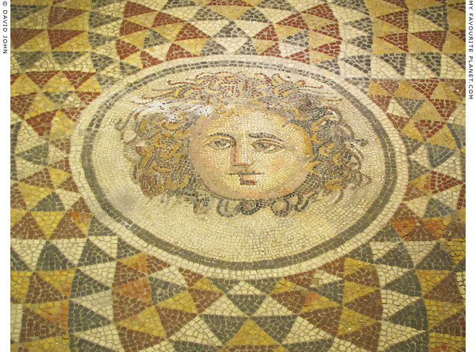 Mosaic head of Medusa from Pergamon at My Favourite Planet