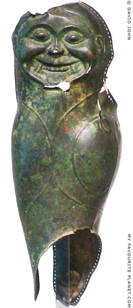 A bronze vambrace with a Gorgoneion