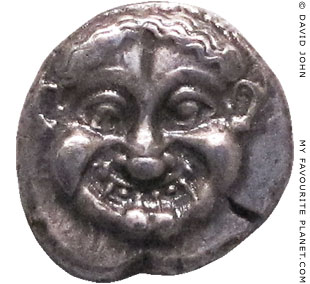 The head of the Gorgon Medusa on an Athenian tetradrachm coin at My Favourite Planet