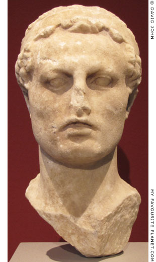 Marble head of Antiochus IV Epiphanes at My Favourite Planet