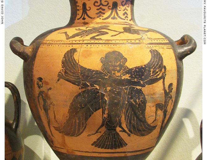 A Harpy, the Demon of Death, on an Etruscan hydria at My Favourite Planet