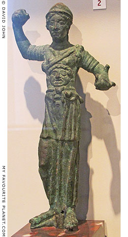 Statuette of the Etruscan goddess Menvra wearing the Gorgoneion at My Favourite Planet