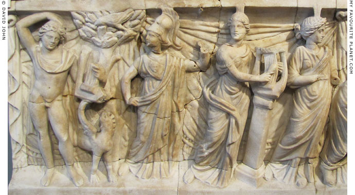 Relief of Apollo, Minerva and the Muses at My Favourite Planet