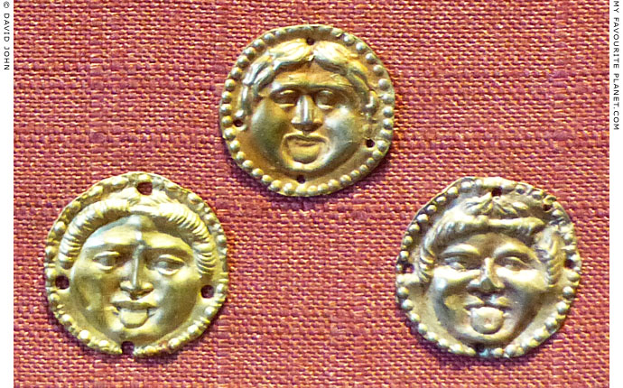Three gold discs with Gorgon heads from the Black Sea area at My Favourite Planet