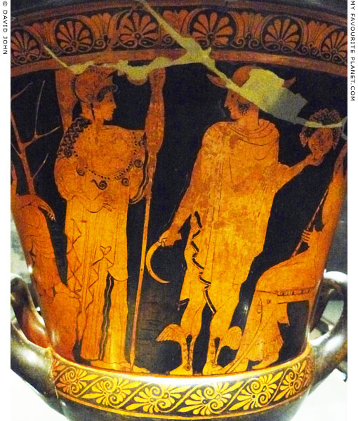 Athena and Perseus holding the head of Medusa at My Favourite Planet