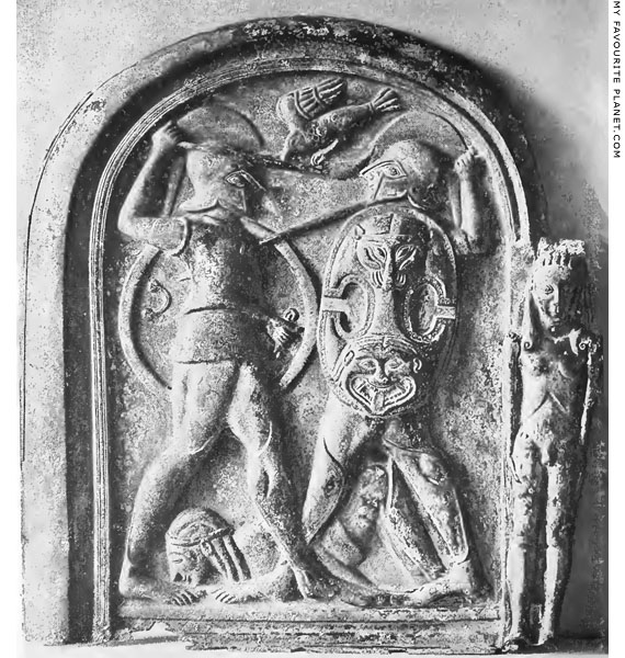 Gorgoneion on the left panel of the Monteleone Chariot at My Favourite Planet