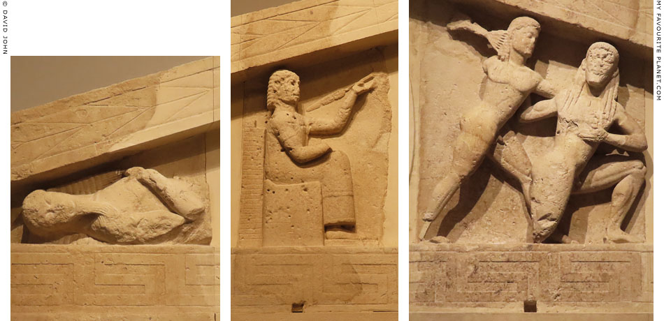 Reliefs of mythological scenes of the Gorgon pediment in Corfu at My Favourite Planet