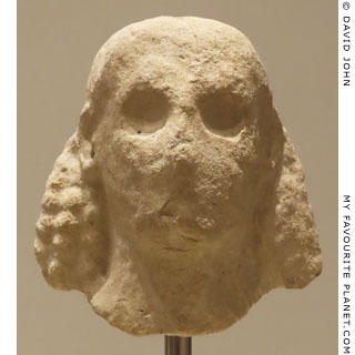 A limestone male head from the Temple of Artemis, Corfu at My Favourite Planet