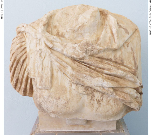 A bust, probably Marcus Aurelius, wearing a cuirass with a Gorgoneion at My Favourite Planet