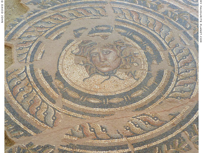 The head of Medusa on a mosaic floor from Dion, Macedonia at My Favourite Planet