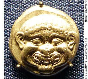 The head of the Gorgon Medusa on a stater from Neapolis, Thrace at My Favourite Planet