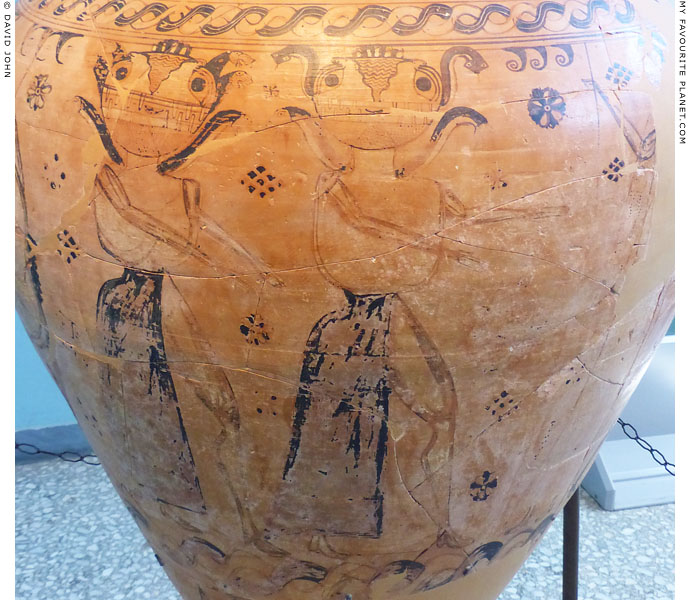 Gorgons on the body of a Proto-Attic amphora, Eleusis at My Favourite Planet