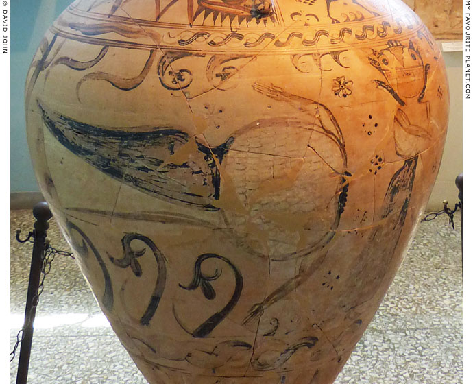 Medusa's decapitated body on the Eleusis Amphora at My Favourite Planet
