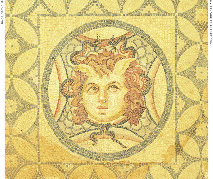 Mosaic head of Medusa from the Terrace Houses, Ephesus at My Favourite Planet