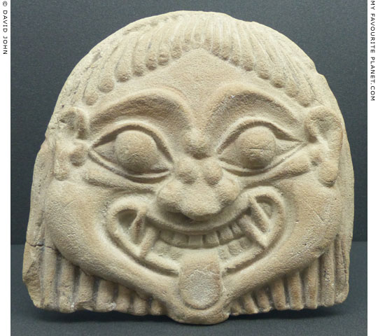 Gorgoneion antefix from the acropolis of Gela, Sicily at My Favourite Planet