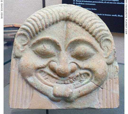 Gorgoneion antefix from Monte Bubbonia, Gela, Sicily at My Favourite Planet