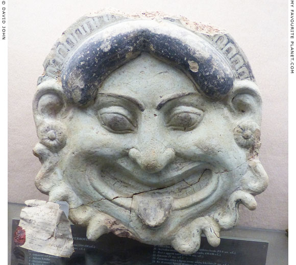 Gorgoneion antefix from Scalo Ferroviario, Gela, Sicily at My Favourite Planet