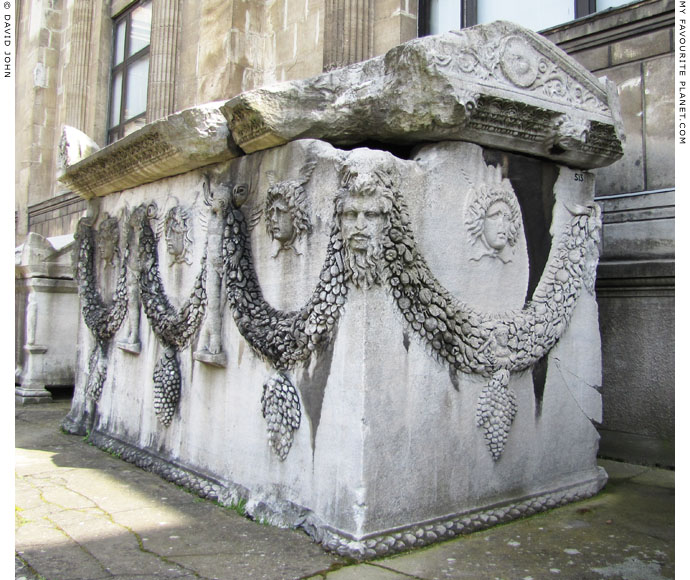 A sarcophagus decorated with Gorgoneions, Erotes and heads of Pan, Istanbul Archaeological Museum at My Favourite Planet