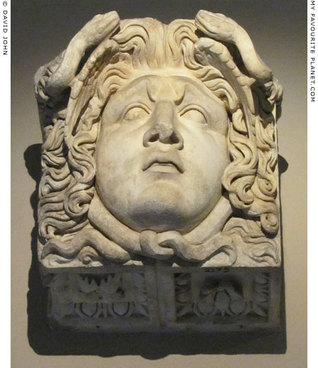 Marble head of the Gorgon Medusa from Aphrodisias, Caria at My Favourite Planet