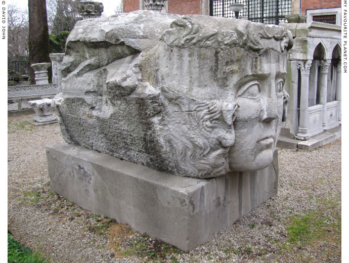 Colossal Gorgoneion relief in the courtyard of the Istanbul Archaeological Museum at My Favourite Planet
