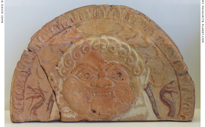 Terracotta Gorgoneion antefix from ancient Oesyme at My Favourite Planet